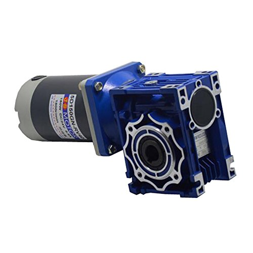 300W Electric DC Worm Gear Motor High Torque Worm Gear Gearbox Reducer DC24V Reduction Ratio (Gm Transmission Gear Ratios)