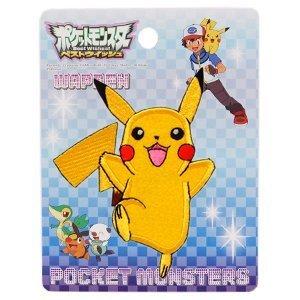 < Pokemon > Ironing adhesive emblem character (PBG001) Pikachu Big Patch