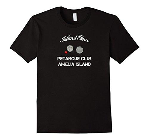 Mens Island Time Amelia Island Petanque Club French Boules 2XL Black