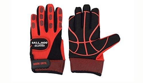 Ball Hog Gloves (Weighted Anti Grip Ball Handling X-Factor (Basketball Training Aid) - Dribble Gloves