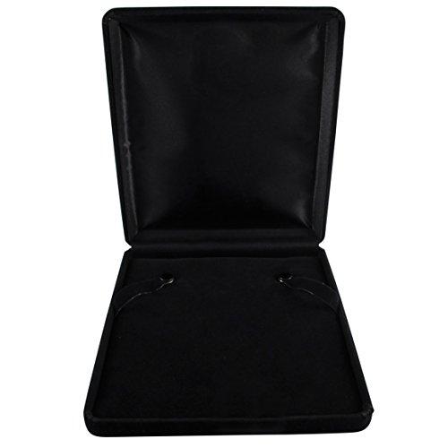 Isaac Kieran Black Velvet Necklace Gift Box Travel Storage Display Case 6x7