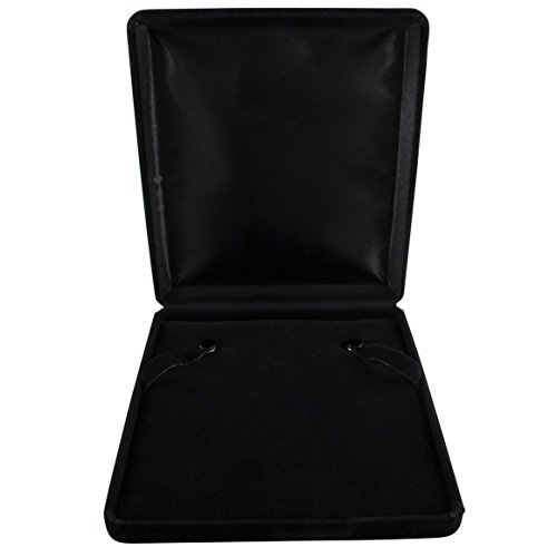 - Isaac Kieran Black Velvet Necklace Gift Box Travel Storage Display Case 6x7