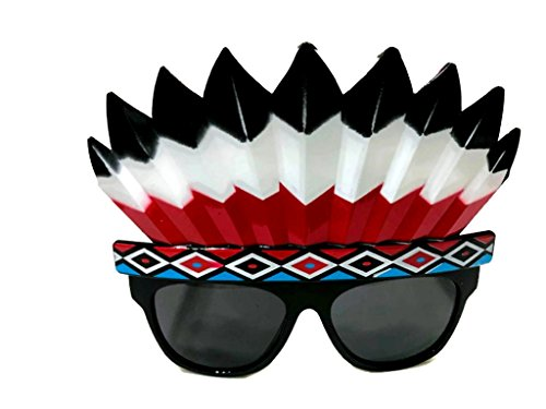 Fancy Dress Funny Glasses Indians Costume Sunglasses Ornaments Party Decoration Glasses (Indians) (Halloween Themed Mini Golf)