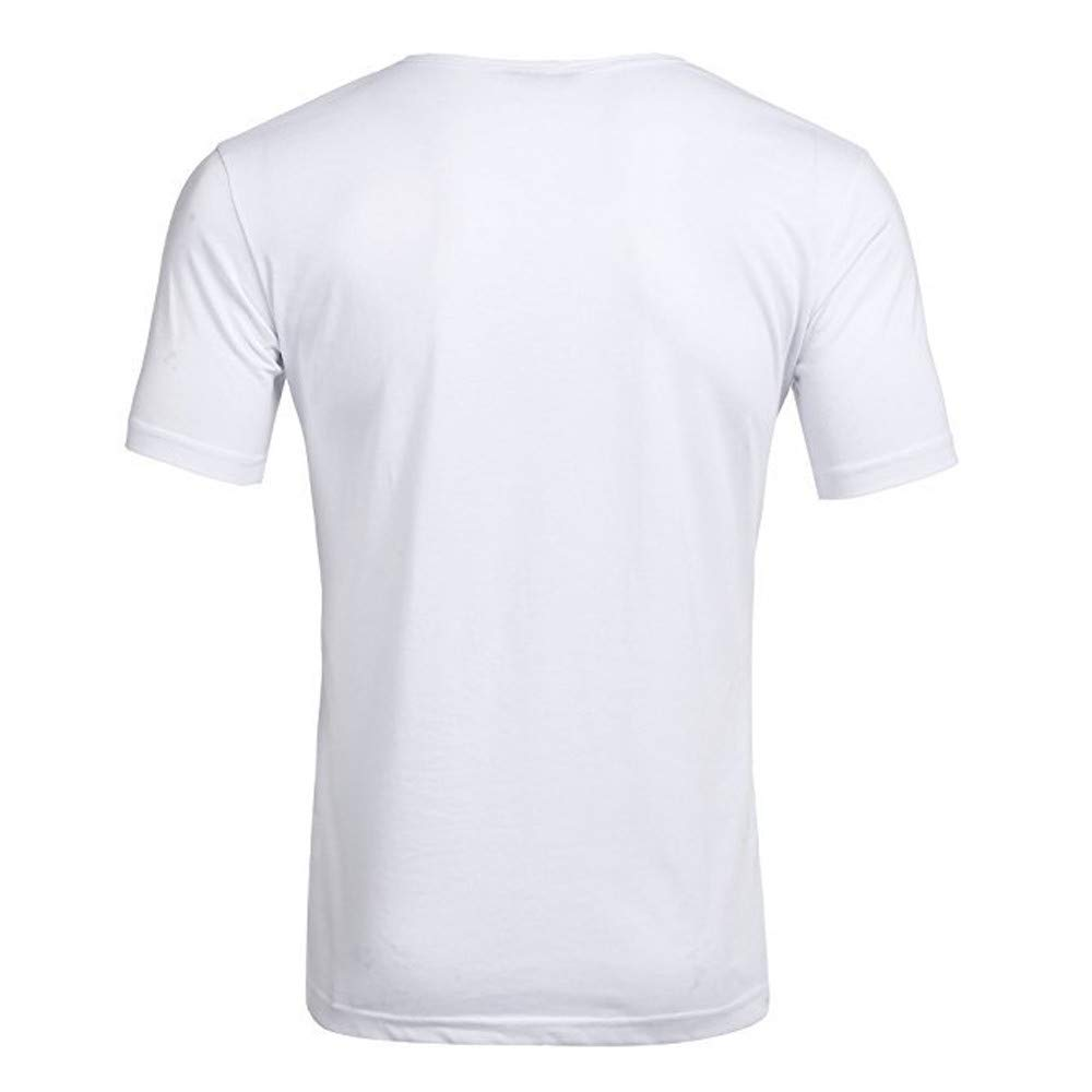 Ciyoon Mens Trend Personal Band Short Sleeve T-Shirt Pure Color Blouse Top