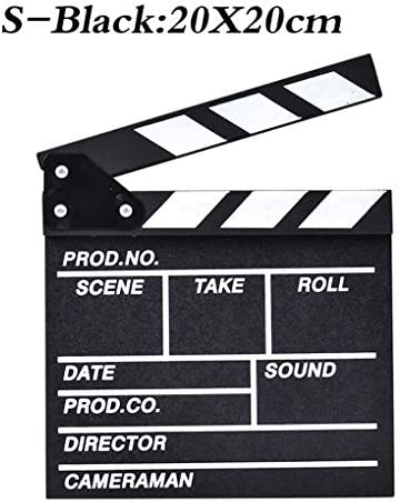 Black Neufday Mini Acrylic Director Scene Clapperboard TV Movie Action Board Film Cut Prop with Pen