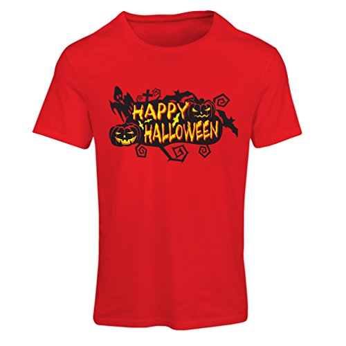 T Shirts for Women Owls, Bats, Ghosts, Pumpkins - Halloween Outfit Full of Spookiness (XX-Large Red Multi -
