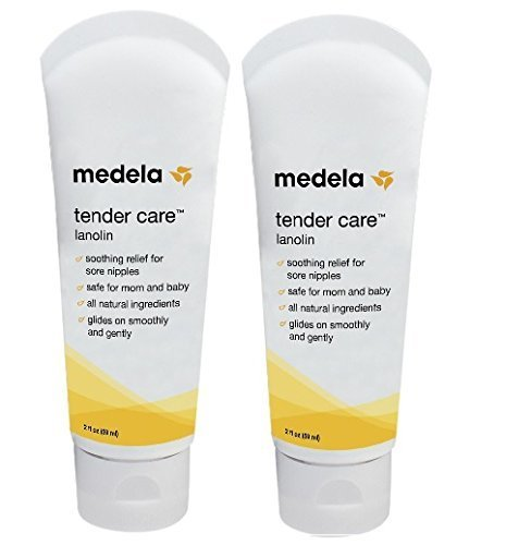 Medela Tender Care Lanolin Tube, 2 ounce (2 Pack) - Medela Tender Care Lanolin
