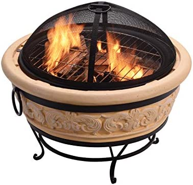 Peaktop Hr26303aa S Wood Burning Fire Pits Sand 27 Inch Amazon Sg Lawn Garden