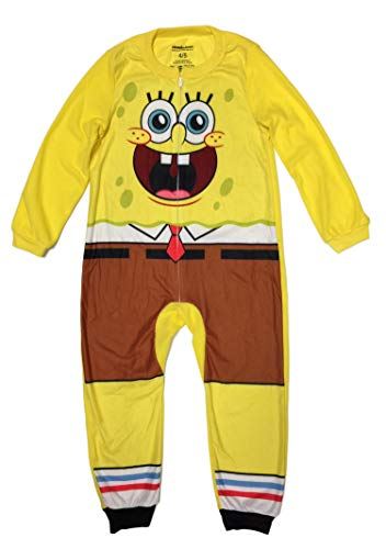 SpongeBob SquarePants Little Boys Sleeper Pajama (S (6/7)) -