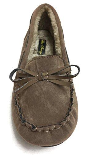 Mocassino Da Donna In Finta Pelle Scamosciata Morbida Foderata Di Mocassino Mocassino Pantofola Lunga 1/2 Cammello