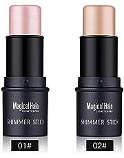 2 colors Bronzers Highlighter Stick Shimmer Cream Powder Waterproof Light Face Cosmetics