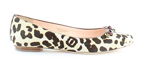 Kate Spade New York Womens Emma Ballett Flat Blush / Brun Leopard Haircalf Print / Rød Kastanje Nappa