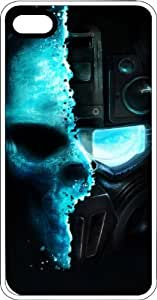Lmf DIY phone caseHuman Skull Robot Skull White Rubber Case for Apple iPhone 4 or iPhone 4sLmf DIY phone case
