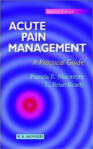 Acute Pain Management - A Practical Guide