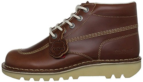 Kickers Kick Hi Core Dark Tan Leather Mens Boots-46