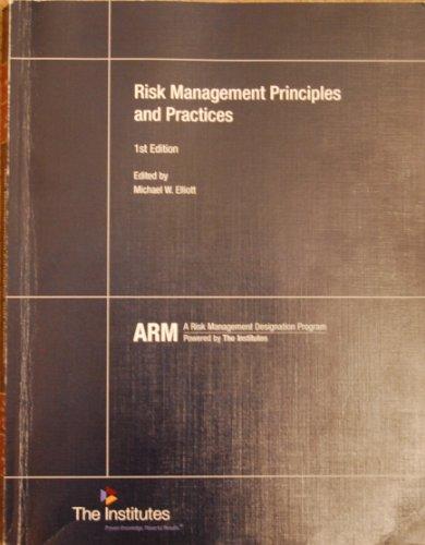 RISK MANAGEMENT PRINCIPLES+PRACTICES