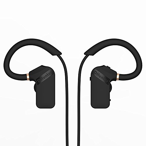 Bluetooth Headphones, DHunter MiniWing Wireless Bluetooth Headset, IPX5 Waterproof Sport Earbuds, with Mic, Works with IPhone 7, IPad, Samsung S8, Nexus, HTC, Echo, and More (Black)