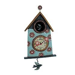 Allen Designs Resin Wall Clocks Allen Designs Sweet Nesting Birdhouse Shaped Pendulum Wall Clock 7 X 14.5 X 1.5 Inches Black Model # P1462