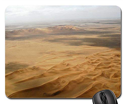 Mouse Pad - Desert Sand Light and Shade Rippled Sand Dunes