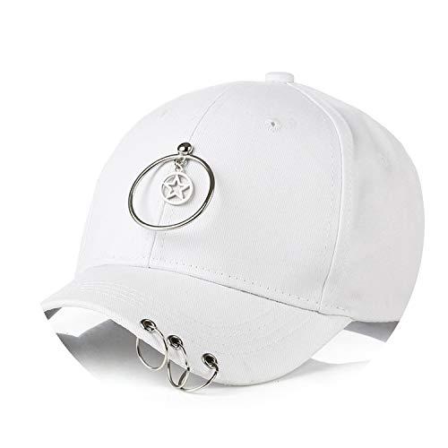 帽子 夏の女性野生の野球帽人格のヒップスターリングキャップのバイザー,白,子供