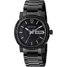 Wittnauer Mens WN3050 22mm Stainless Steel Black Watch Bracelet