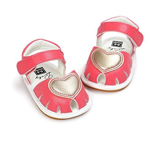 Janly Kleinkind Baby Mädchen Sandalen Schuh Casual Schuhe Sneaker Anti-Rutsch weichen Sohle Hot Pink