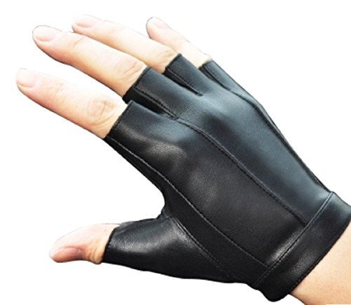 EMONJAY Unisex Driving glove Half finger genuine leather gloves Simple design Men's Women's (XL) by EMONJAY