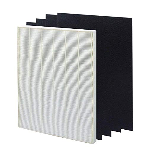 True HEPA Plus 4 Carbon Replacement Filter for Winix 115115 Size 21 fit Plasma Wave WAC5300, WAC5500, WAC6300, 5000, 5000b, 5300, 5500, 6300 & 9000