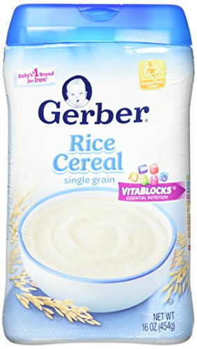 Gerber Baby Cereal Single-Grain Rice Baby Cereal, 16 Ounce