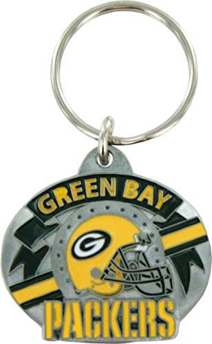 Nfl Team Design Key Ring (Green Bay Packers Pewter Team Design Keychain)