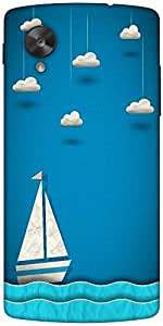 Snoogg Sailing Boat And Clouds Designer Protective Back Case Cover For Google...