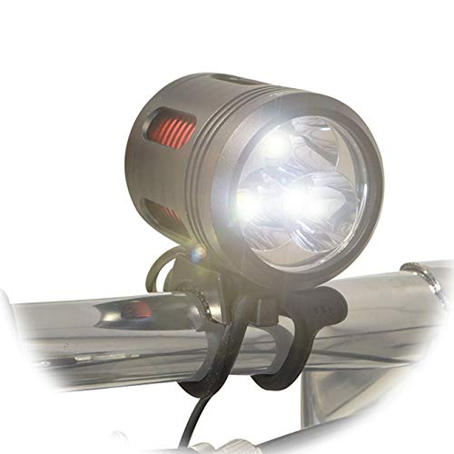 Rechargeable 3000 Lumen Mountain Bike Headlight w/Helmet Mount for Offroad Downhill and Road Cycling