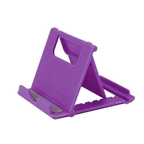 Cell Phone Holder for Desk,HP95 Foldable Phone Grip Bracket Tablet Stand Multi-angle Desktop Holder (Purple)