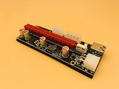 Black, 60cm TL-ANALOG 10pcs New PCI-E 009S Molex 6pin PCIE 1x to 16X PCI Express Power Supply Adapter SATA to USB 3.0 Cable Riser Card for BTC Mining