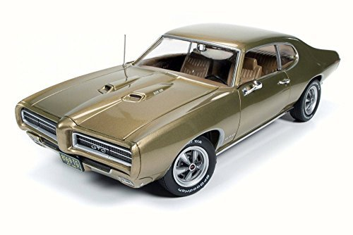(Auto World 1969 Pontiac GTO, Antique Gold AMM1081 - 1/18 Scale Diecast Model Toy)