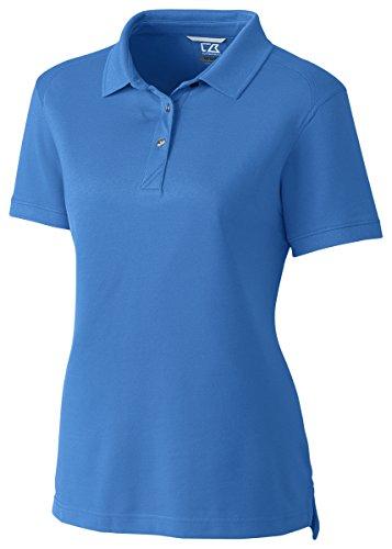 Cutter & Buck Women's Cb Drytec Cotton+ Advantage Polo, Sea Blue, (Cutter Buck Golf Clothing)
