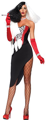 Cruel Diva Adult Womens Costumes (Womens Halloween Costume- Cruel Diva 5 Pc Adult Costume Medium)