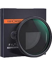 فلتر عدسة من K&F -58 ملم - فلتر Fader ND، ND2-ND32، اسود، متوافق مع عدسات متعددة