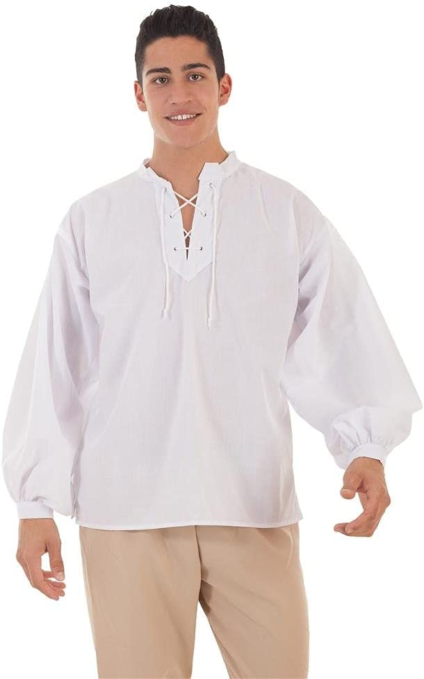 Creaciones Llopis Camisa Medieval Blanca para Hombre