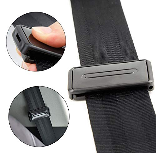 Ansblue Car Seat Belt Adjuster, Seatbelt Clips, Smart Adjust Seat Belts to Relax Shoulder Neck - 2PCS / Black