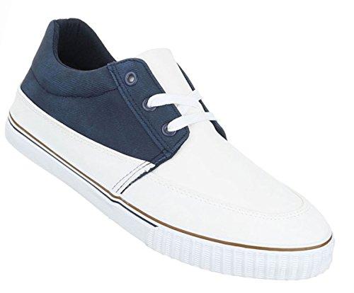 Herren Schuhe Halbschuhe Sneakers Turnschuhe Freizeitschuhe Camel Blau Weiß