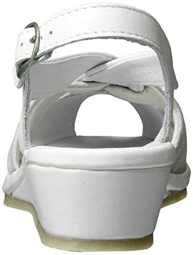 Sandalias Weiß 710817 Weiß Comfortabel Mujer ZwpXqxH