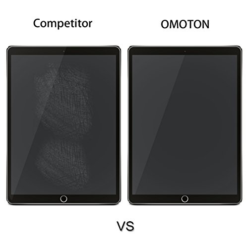 OMOTON New iPad Pro 12.9 Screen Protector, Tempered Glass Screen Protector with [High Responsivity] [High Definiton] [Bubble Free] for Apple iPad Pro 12.9 inch (2017 and 2015 Version) by OMOTON (Image #5)