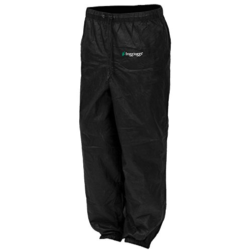 Frogg Toggs Pro Action Water-Resistant Rain Pant, Women's, Black, Size Large