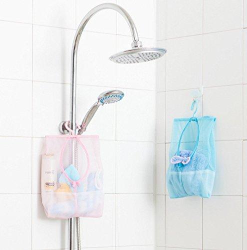 3 Stk Multifunksjons Hengende Mesh Bag, Bad Dusj Lagring Arrangør Satt Hemme Bag Skapet Rack-klær Klipp Oppsamlingspose Skittentøyskurv