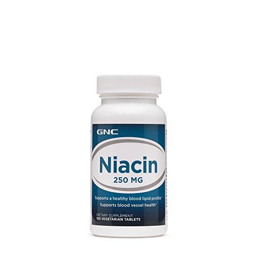 GNC Niacin 250 mg 100 Vegetarian Tablets