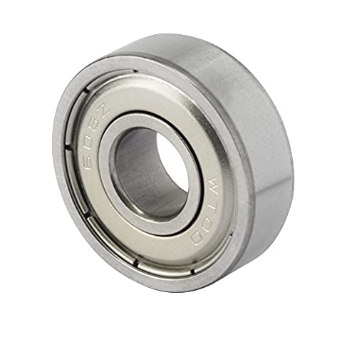 608ZZ 8x22x7 Bearings for Skateboard, Inline Skate, Scooters Industrial Application, Made of Special Bearing Steel, Double Shields To Reduce Noise and Retain Lubricant, Nylon Cage (Pack of - Cage Shield