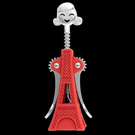 Pylones Torre Eiffel Cheers Tower - Sacacorchos con diseño de la Torre Eiffel, Color Rojo
