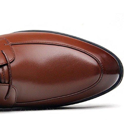 Brown Sposa Oxford Pelle Scarpe Scarpe Affari Scarpe Maschi Scarpe Scarpe Casuale A Cuoio da Scarpe Punta di Traspirante Basse Stringate SzBRqwxx