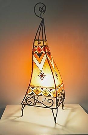 Lámpara de mesa marroquí de henna- color Naranja 60 cm ...